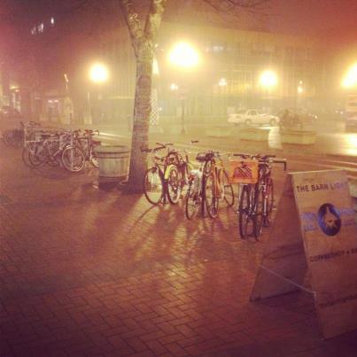 Eugene - City of Bikes and Fog (courtesy of facebook.com)