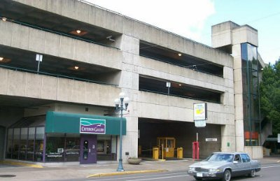 Eugene's Downtown Parcade Parking Garage (courtesy of eugene-or.gov)